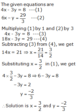 RS Aggarwal Solutions Class 10 Chapter 3 Linear equations in two variables 3b 7.1