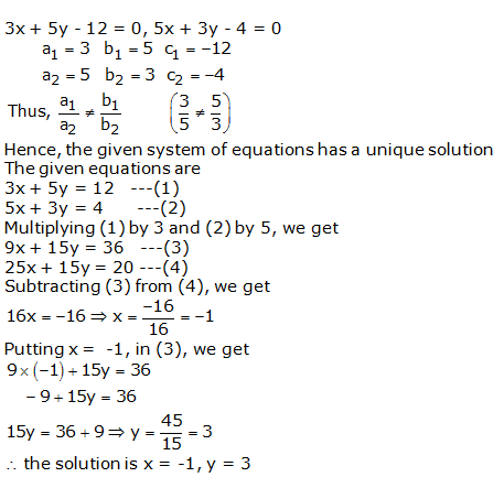 RS Aggarwal Solutions Class 10 Chapter 3 Linear equations in two variables 3d 1.1