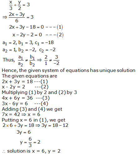 RS Aggarwal Solutions Class 10 Chapter 3 Linear equations in two variables 3d 2.1