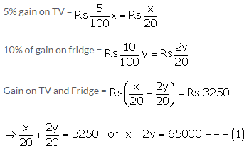 RS Aggarwal Solutions Class 10 Chapter 3 Linear equations in two variables 3e 35.1