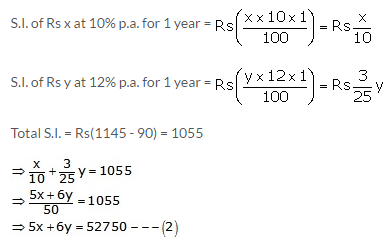 RS Aggarwal Solutions Class 10 Chapter 3 Linear equations in two variables 3e 36.2