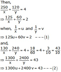 RS Aggarwal Solutions Class 10 Chapter 3 Linear equations in two variables 3e 40.1