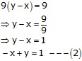 RS Aggarwal Solutions Class 10 Chapter 3 Linear equations in two variables Q13.1