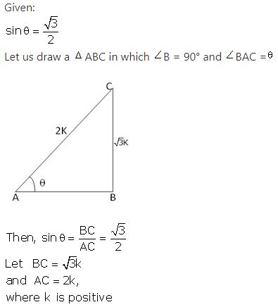 RS Aggarwal Solutions Class 10 Chapter 5 Trigonometric Ratios 1.1
