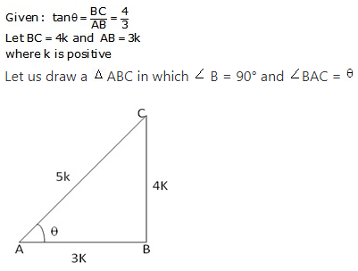 RS Aggarwal Solutions Class 10 Chapter 5 Trigonometric Ratios 18.1