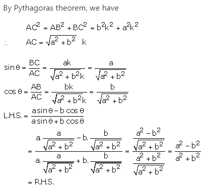 RS Aggarwal Solutions Class 10 Chapter 5 Trigonometric Ratios 19.2