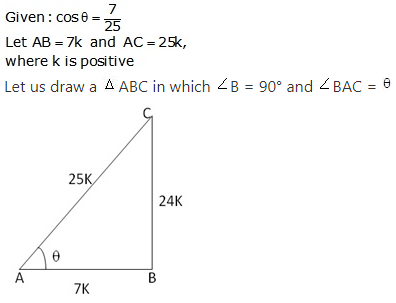 RS Aggarwal Solutions Class 10 Chapter 5 Trigonometric Ratios 2.1