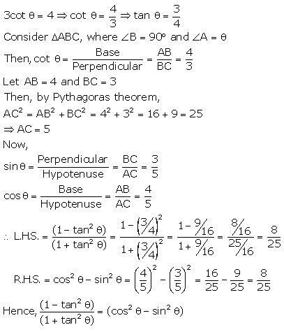 RS Aggarwal Solutions Class 10 Chapter 5 Trigonometric Ratios 22.2