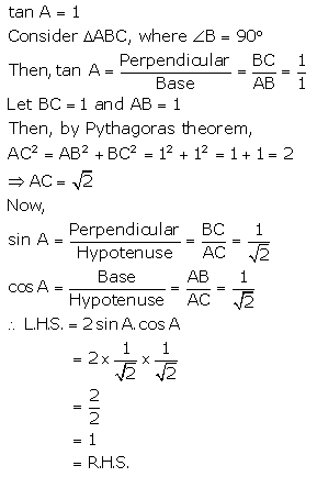 RS Aggarwal Solutions Class 10 Chapter 5 Trigonometric Ratios 32.2