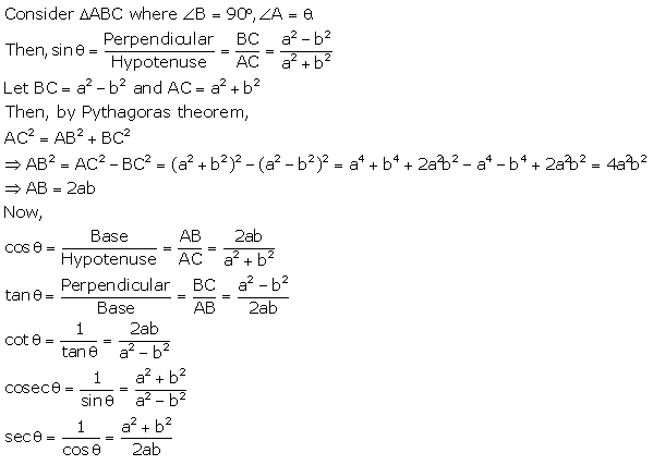 RS Aggarwal Solutions Class 10 Chapter 5 Trigonometric Ratios 6.2
