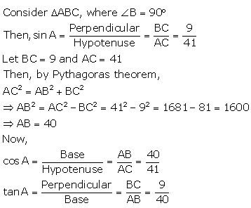 RS Aggarwal Solutions Class 10 Chapter 5 Trigonometric Ratios 8.2