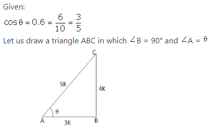 RS Aggarwal Solutions Class 10 Chapter 5 Trigonometric Ratios 9.1