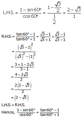 RS Aggarwal Solutions Class 10 Chapter 6 T-Ratios of Some Particular Angles 10.1