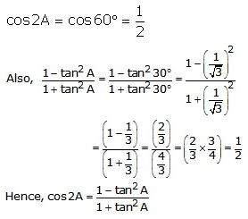 RS Aggarwal Solutions Class 10 Chapter 6 T-Ratios of Some Particular Angles 13.2