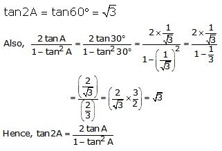 RS Aggarwal Solutions Class 10 Chapter 6 T-Ratios of Some Particular Angles 13.3