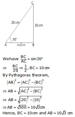 RS Aggarwal Solutions Class 10 Chapter 6 T-Ratios of Some Particular Angles 20.1