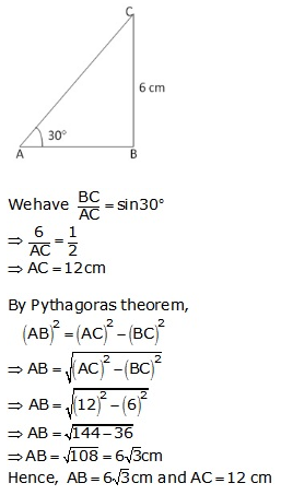 RS Aggarwal Solutions Class 10 Chapter 6 T-Ratios of Some Particular Angles 21.1