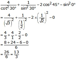 RS Aggarwal Solutions Class 10 Chapter 6 T-Ratios of Some Particular Angles 9.1