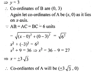 ML Aggarwal Class 10 Solutions for ICSE Maths Chapter 11 Section Formula Chapter Test Q1.2