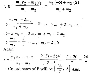ML Aggarwal Class 10 Solutions for ICSE Maths Chapter 11 Section Formula Chapter Test Q11.1