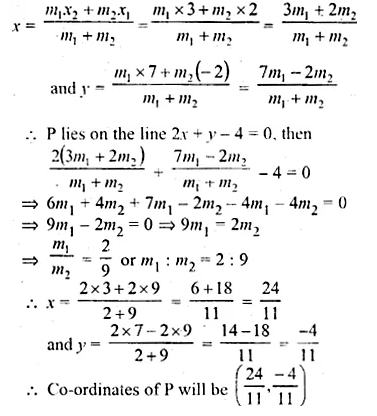 ML Aggarwal Class 10 Solutions for ICSE Maths Chapter 11 Section Formula Chapter Test Q13.1