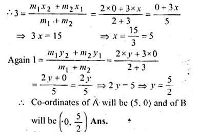 ML Aggarwal Class 10 Solutions for ICSE Maths Chapter 11 Section Formula Chapter Test Q17.2