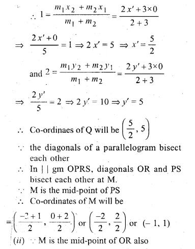 ML Aggarwal Class 10 Solutions for ICSE Maths Chapter 11 Section Formula Chapter Test Q18.2