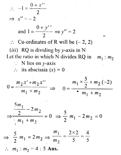 ML Aggarwal Class 10 Solutions for ICSE Maths Chapter 11 Section Formula Chapter Test Q18.3