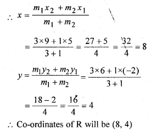 ML Aggarwal Class 10 Solutions for ICSE Maths Chapter 11 Section Formula Chapter Test Q3.1