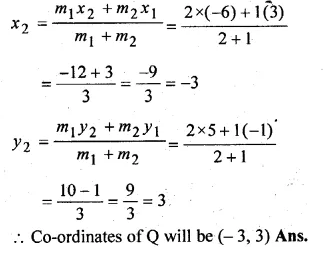 ML Aggarwal Class 10 Solutions for ICSE Maths Chapter 11 Section Formula Chapter Test Q5.2