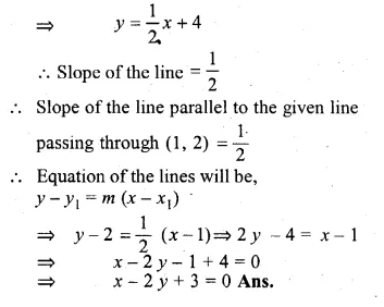 ML Aggarwal Class 10 Solutions for ICSE Maths Chapter 12 Equation of a Straight Line Chapter Test Q10.1