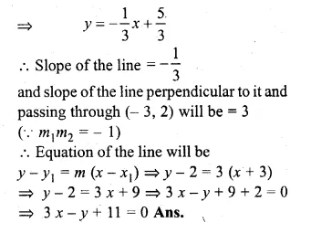 ML Aggarwal Class 10 Solutions for ICSE Maths Chapter 12 Equation of a Straight Line Chapter Test Q11.1