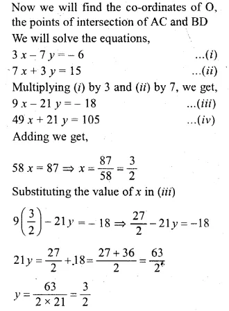 ML Aggarwal Class 10 Solutions for ICSE Maths Chapter 12 Equation of a Straight Line Chapter Test Q16.3