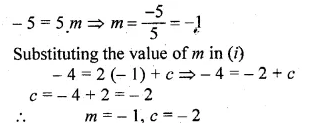 ML Aggarwal Class 10 Solutions for ICSE Maths Chapter 12 Equation of a Straight Line Chapter Test Q4.1