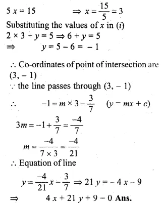 ML Aggarwal Class 10 Solutions for ICSE Maths Chapter 12 Equation of a Straight Line Chapter Test Q7.1