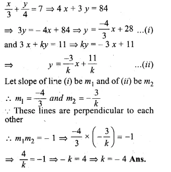 ML Aggarwal Class 10 Solutions for ICSE Maths Chapter 12 Equation of a Straight Line Chapter Test Q9.1