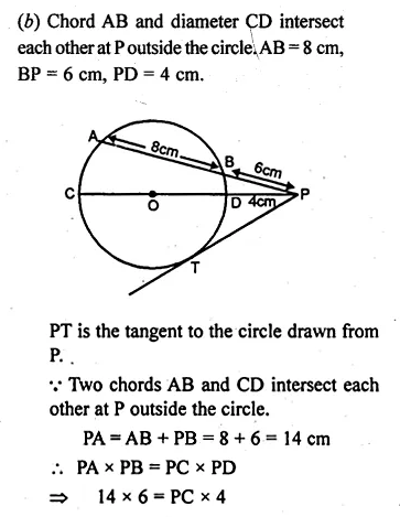 ML Aggarwal Class 10 Solutions for ICSE Maths Chapter 16 Circles Chapter Test Q12.4