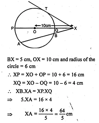 ML Aggarwal Class 10 Solutions for ICSE Maths Chapter 16 Circles Chapter Test Q13.2