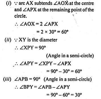 ML Aggarwal Class 10 Solutions for ICSE Maths Chapter 16 Circles Chapter Test Q17.3