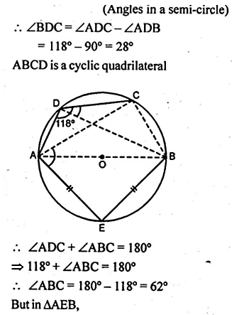 ML Aggarwal Class 10 Solutions for ICSE Maths Chapter 16 Circles Chapter Test Q2.3