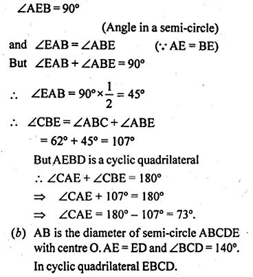 ML Aggarwal Class 10 Solutions for ICSE Maths Chapter 16 Circles Chapter Test Q2.4
