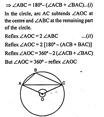 ML Aggarwal Class 10 Solutions for ICSE Maths Chapter 16 Circles Chapter Test Q3.2