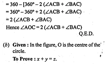 ML Aggarwal Class 10 Solutions for ICSE Maths Chapter 16 Circles Chapter Test Q3.3
