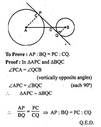 ML Aggarwal Class 10 Solutions for ICSE Maths Chapter 16 Circles Chapter Test Q9.3