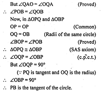 ML Aggarwal Class 10 Solutions for ICSE Maths Chapter 16 Circles Chapter Test Q9.5