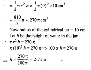 ML Aggarwal Class 10 Solutions for ICSE Maths Chapter 18 Mensuration Chapter Test Q12.1