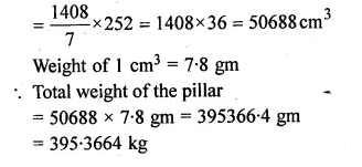 ML Aggarwal Class 10 Solutions for ICSE Maths Chapter 18 Mensuration Chapter Test Q13.2