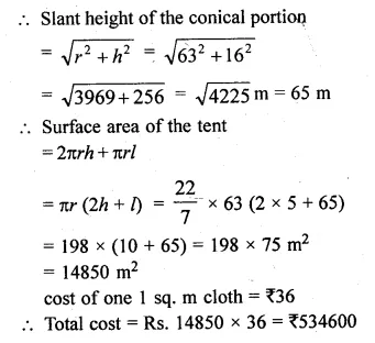 ML Aggarwal Class 10 Solutions for ICSE Maths Chapter 18 Mensuration Chapter Test Q14.2