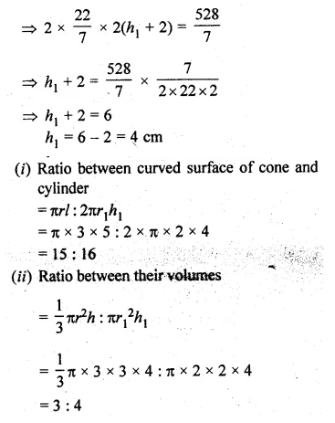 ML Aggarwal Class 10 Solutions for ICSE Maths Chapter 18 Mensuration Chapter Test Q15.2