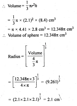 ML Aggarwal Class 10 Solutions for ICSE Maths Chapter 18 Mensuration Chapter Test Q16.1